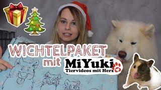 WICHTELPAKET mit Miyuki Tiervideos mit Herz! Weihnachtliches Tauschpaket unboxing! Haustiere