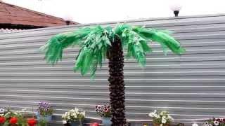 Как сделать пальму из бутылок / how to make the palm of the bottles