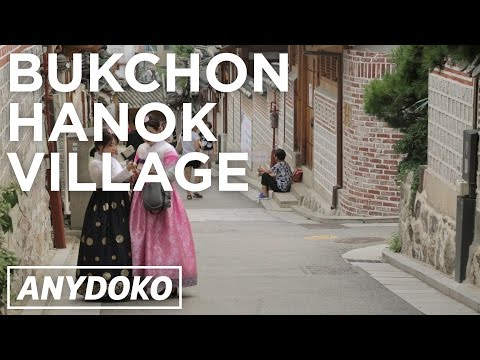 The Traditional Bukchon Hanok Korean Village in the Middle of Seoul!