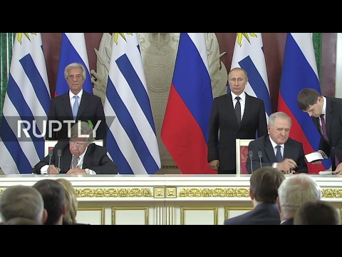 LIVE: Joint statement by Vladimir Putin and Tabare Vazquez in Moscow