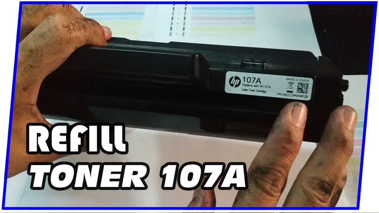 Cara Refill Cartridge Toner Hp 107a Youtube