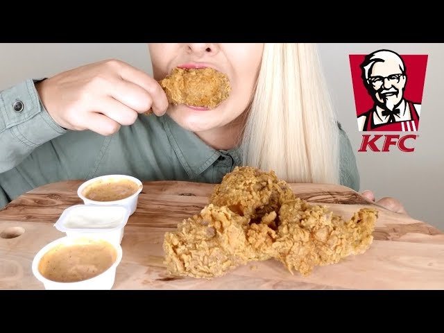 Extra Crispy Kfc Fried Chicken Asmr Eating Sounds No Talking