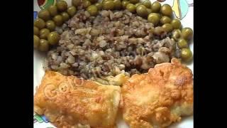 Горячие закуски рыбные:Рыба,жаренная в кляре