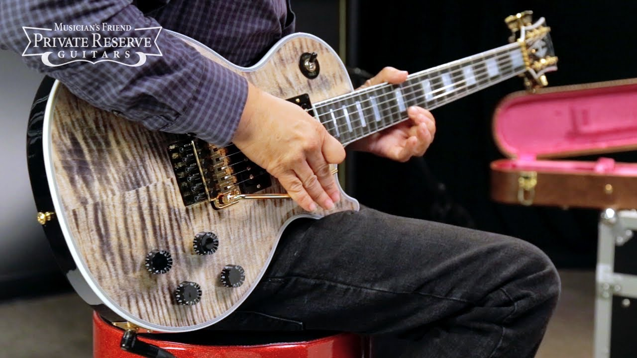 gibson custom les paul axcess custom with floyd rose electric guitar youtube. Black Bedroom Furniture Sets. Home Design Ideas