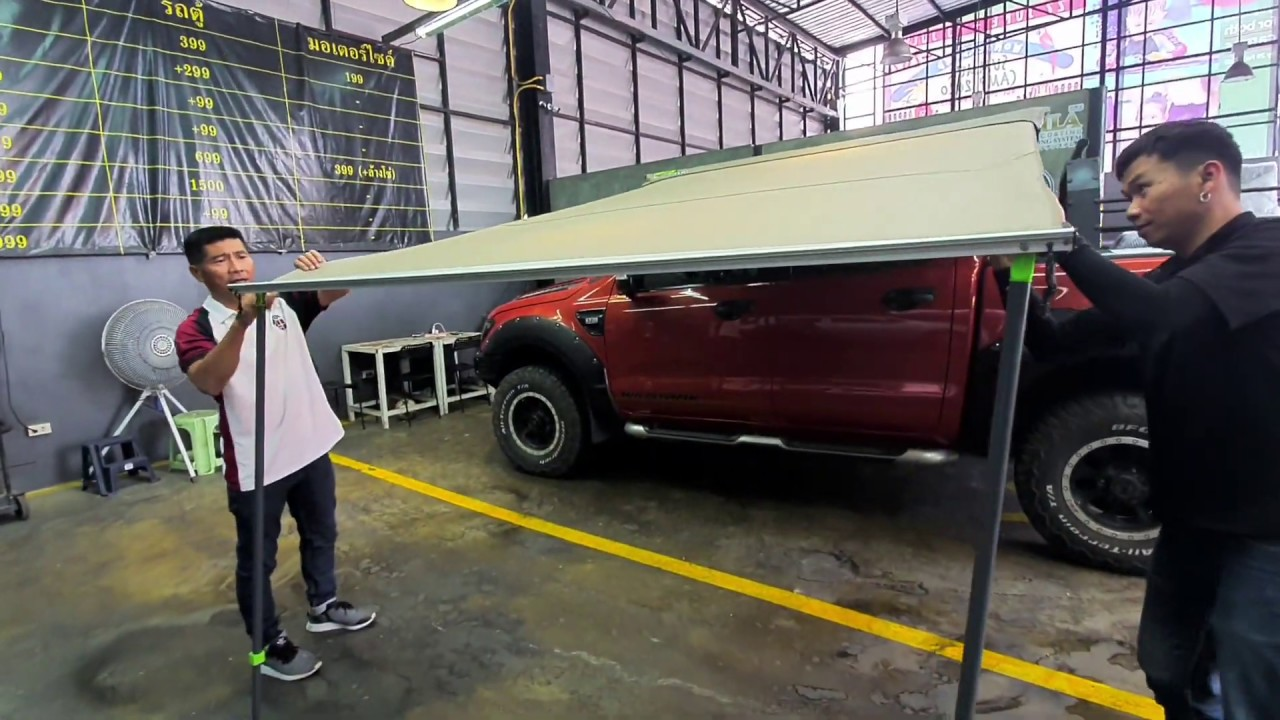 Ironman 4x4 instant Awning for truck by Taze - YouTube