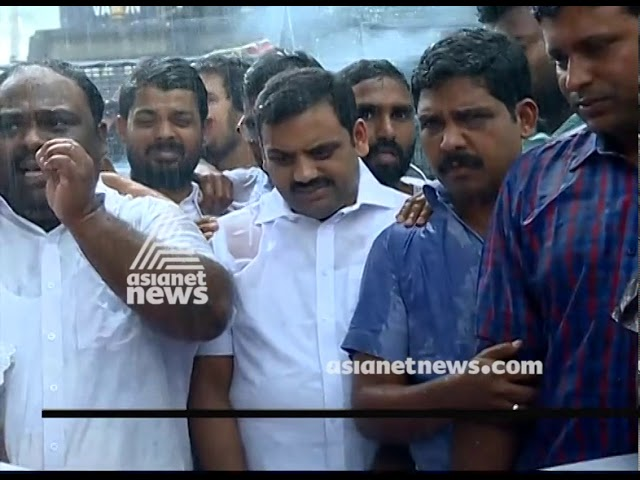 Youth congress march demanding Thomas Chandy's resignation
