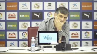 Rueda de prensa de Mendilibar previa al Valladolid - Eibar 18/19