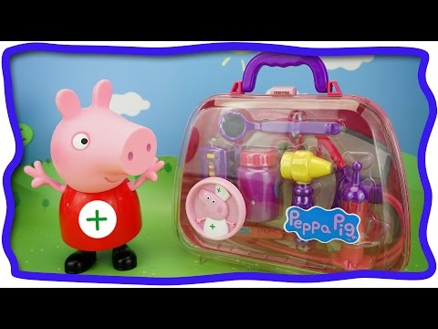 Докторский чемоданчик Свинки Пеппы. Развивающее видео для детей.  Свинка Пеппа доктор. Peppa Pig