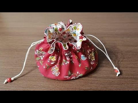 Новогодние мешочки из ткани своими руками
