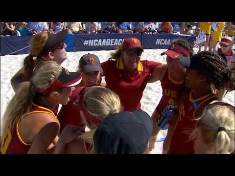 Highlights: USC beach volleyball blanks Pepperdine, advances to NCAA title match