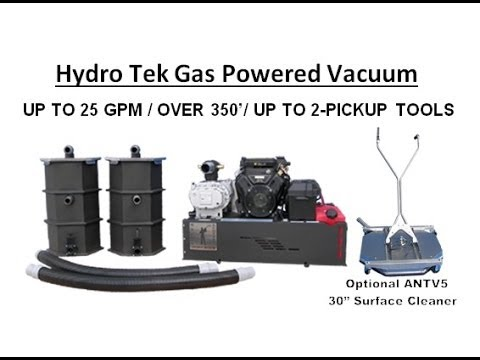 Hydro Tek Gas Powered Vacuum Recovery Amp Transfer Systems