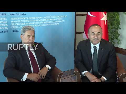 Turkey: New Zealand FM Peters meets Turkish counterpart Cavusoglu in Istanbul