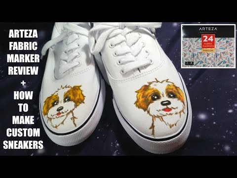 Arteza Fabric Markers Review + How I Customized Sneakers