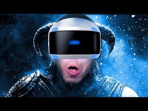 JOGANDO SKYRIM EM REALIDADE VIRTUAL | SKYRIM VR (Gameplay no PS4 PRO / PS4VR)