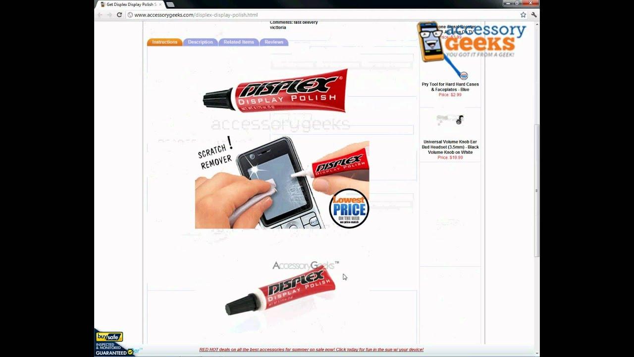 accessorygeeks displex display polish scratch remover for. Black Bedroom Furniture Sets. Home Design Ideas