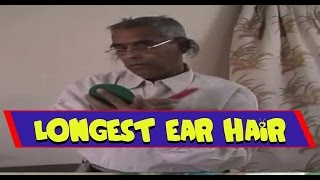 New Record Set For Longest Ear Hair - Guinness World Records