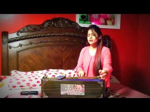 miss-pooja-|-firtst-time-live-singing-on-harmonium-|-2017