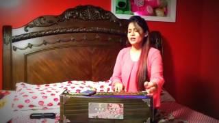 Miss Pooja   Firtst Time Live Singing on Harmonium   2017