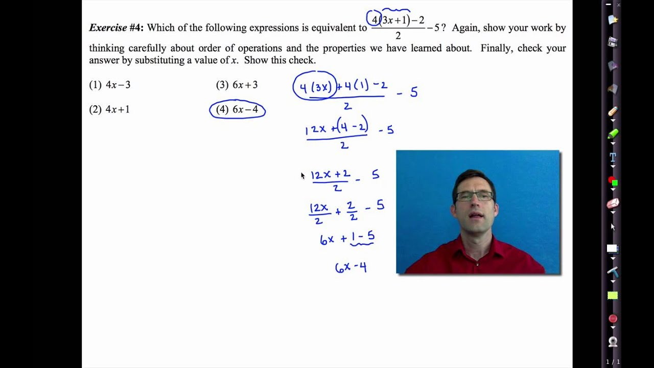 Common Core Algebra I.Unit #1.Lesson #5.Equivalent Expressions ...