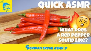 How does a red pepper sounds like?🤔🌶️  (Quick ASMR) #1