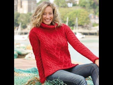 Красный Пуловер Спицами - 2019 / Red Pullover Knitting Needles
