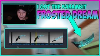 Kid Unboxes New Frosted Dream Karambit! Roblox CBRO Case Opening