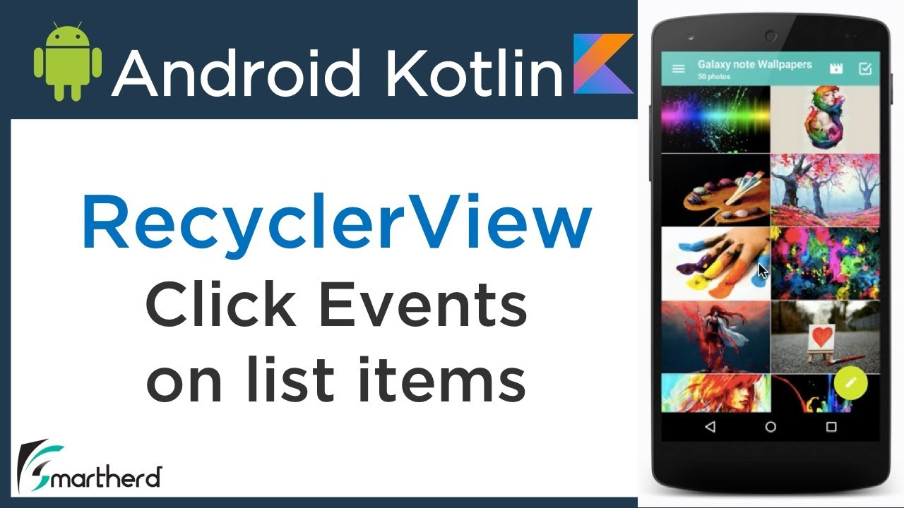 #3 5 Android Kotlin Tutorial: Link RecyclerView with Custom  RecyclerView Adapter