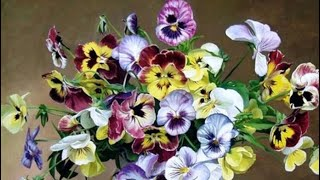 Diamond Painting Unboxing - Pansies in a Vase