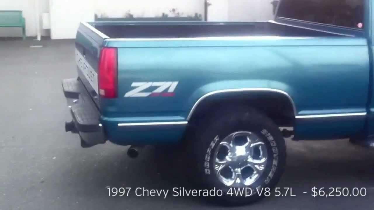 Chevy Trucks For Sale Craigslist >> 1997 Chevy Silverado V8 5.7L 4WD Z71 FOR SALE $5,250.00 - YouTube