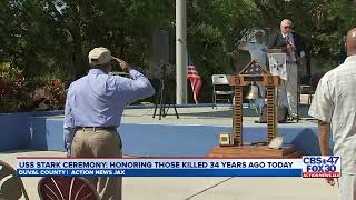 Happening Now Remembrance Ceremony To Honor Lives Lost During Uss Stark Attack