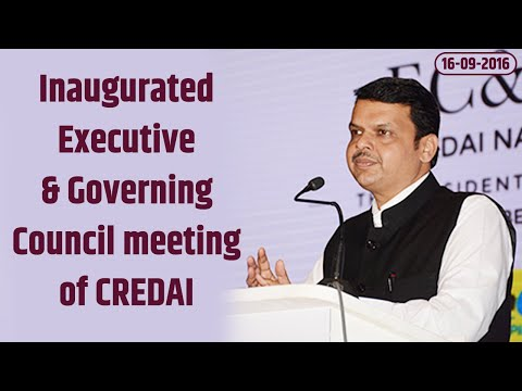 CM Devendra Fadnavis inaugurated & addressed Executive & Governing Council meeting of CREDAI