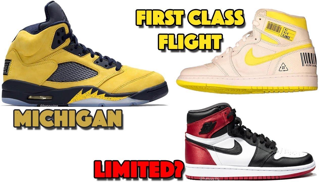 Air Jordan 5 Michigan Jordan 1 First Class Flight Jordan 1 Satin