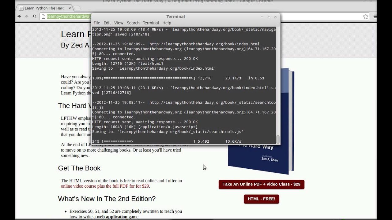 Download entire website with command line terminal in Linux Mint