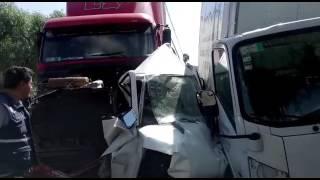 Mujer muere prensada en brutal carambola en la autopista México-Querétaro. thumbnail