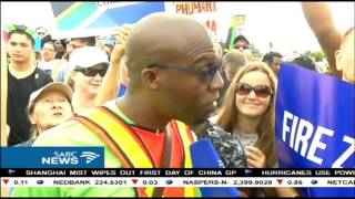 Anti-Zuma protesters and ANCYL members clashed in Durban