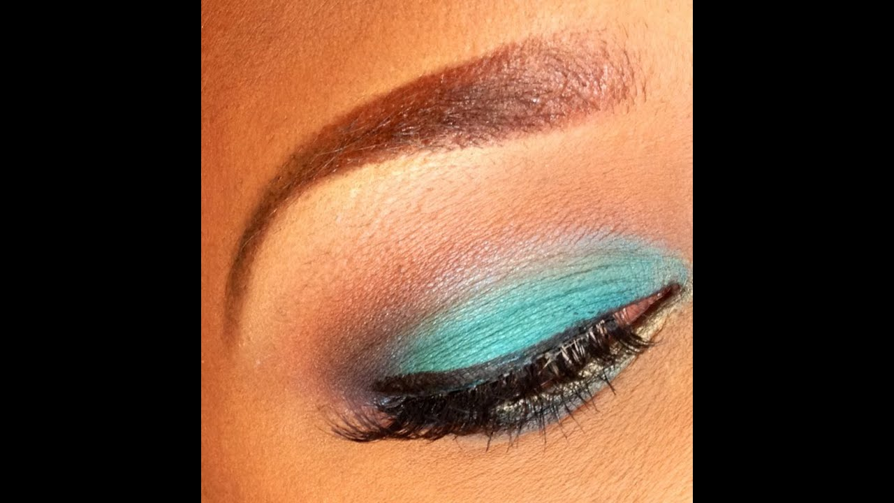 Eyeshadow tutorial using mayballine color tattoo pigments for Never fade tattoo