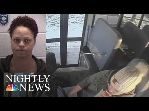 School Bus Driver Drinking While Driving Captured On Camera | NBC Nightly News