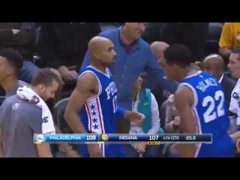 Gerald Henderson CLUTCH shot - Philadelphia 76ers @ Indiana Pacers 11/9/2016