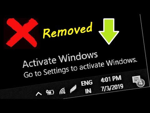 Remove Activate Windows Watermark on Windows 10 - Working 100%