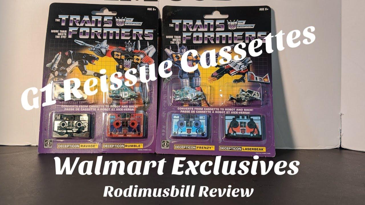 Walmart Exclusive G1 Reissue Decepticon Cassettes By Rodimusbill