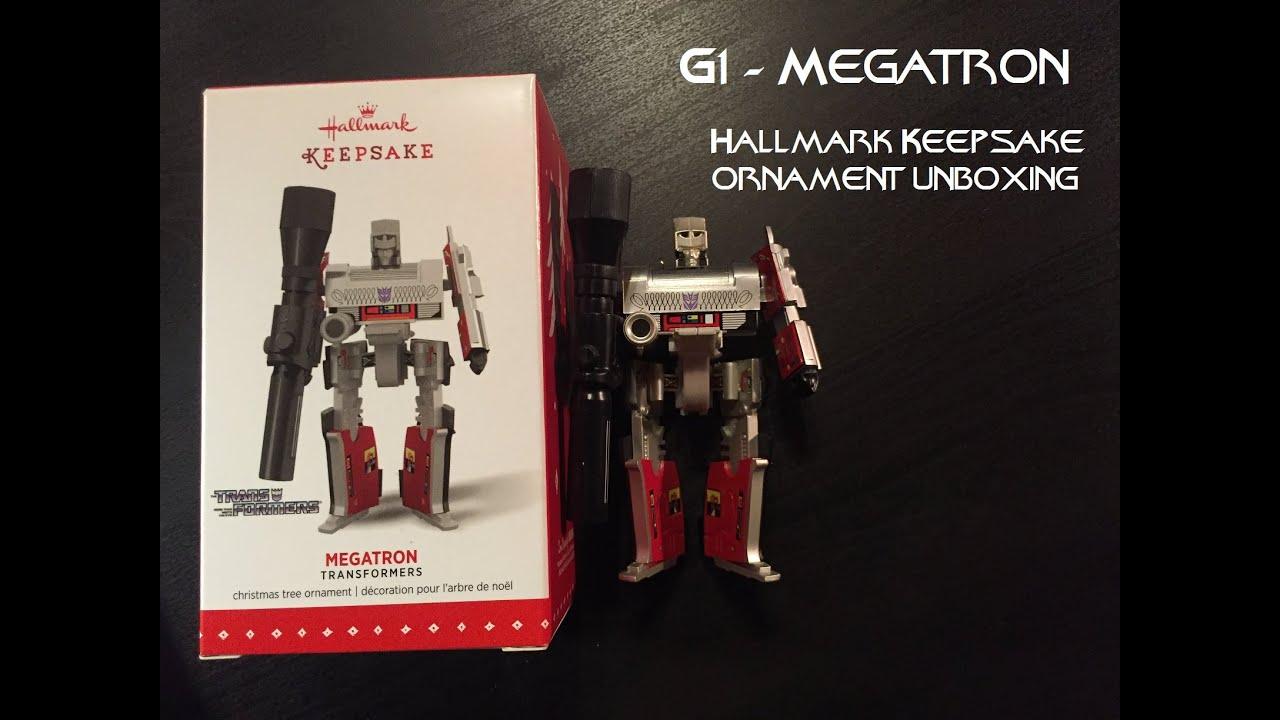 G1 Megatron Hallmark Ornament Unboxing - YouTube
