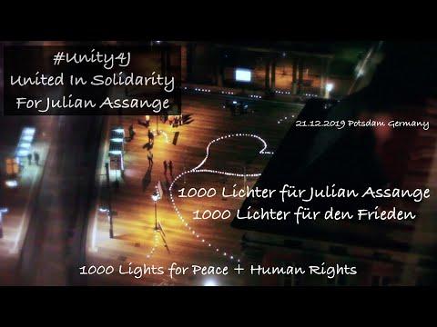 1000 Lights for Peace & Julian Assange 21.12.2019 Potsdam(Germany) #Unity4J #FreeSpeech #FreeAssange