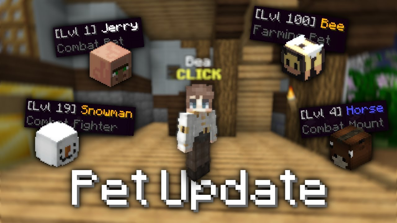 Hypixel Skyblock Pet Update How To Get Them And Level Them Up Youtube