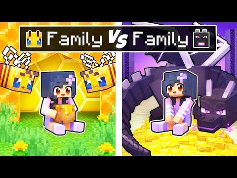 Minecraft BEE Family vs DRAGON Family!