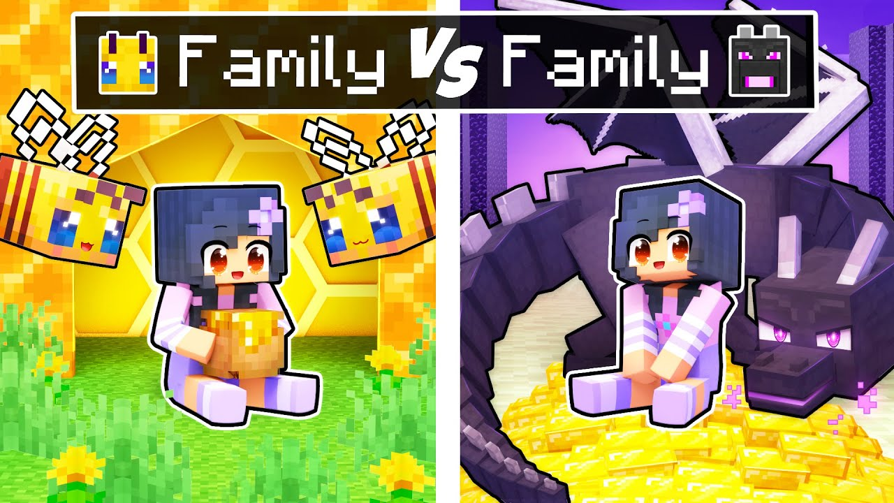 Download Minecraft BEE Family vs DRAGON Family!