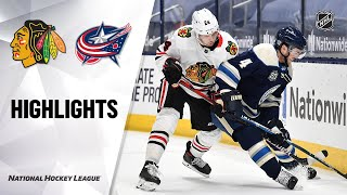 Blackhawks @ Blue Jackets 2/23/21 | NHL Highlights