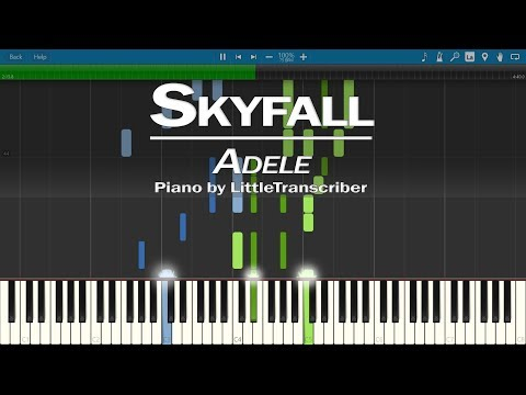 Adele - Skyfall (Piano Cover) Synthesia Tutorial By LittleTranscriber