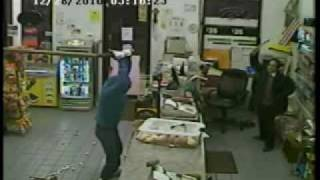 Man With Stick Robs Convenience Store (Benny Hill version)