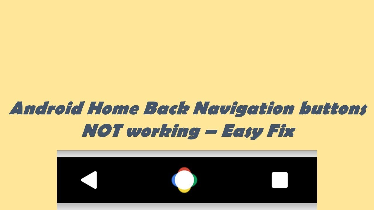 Android Home Back Button keys Not Working Damaged - Quick fix