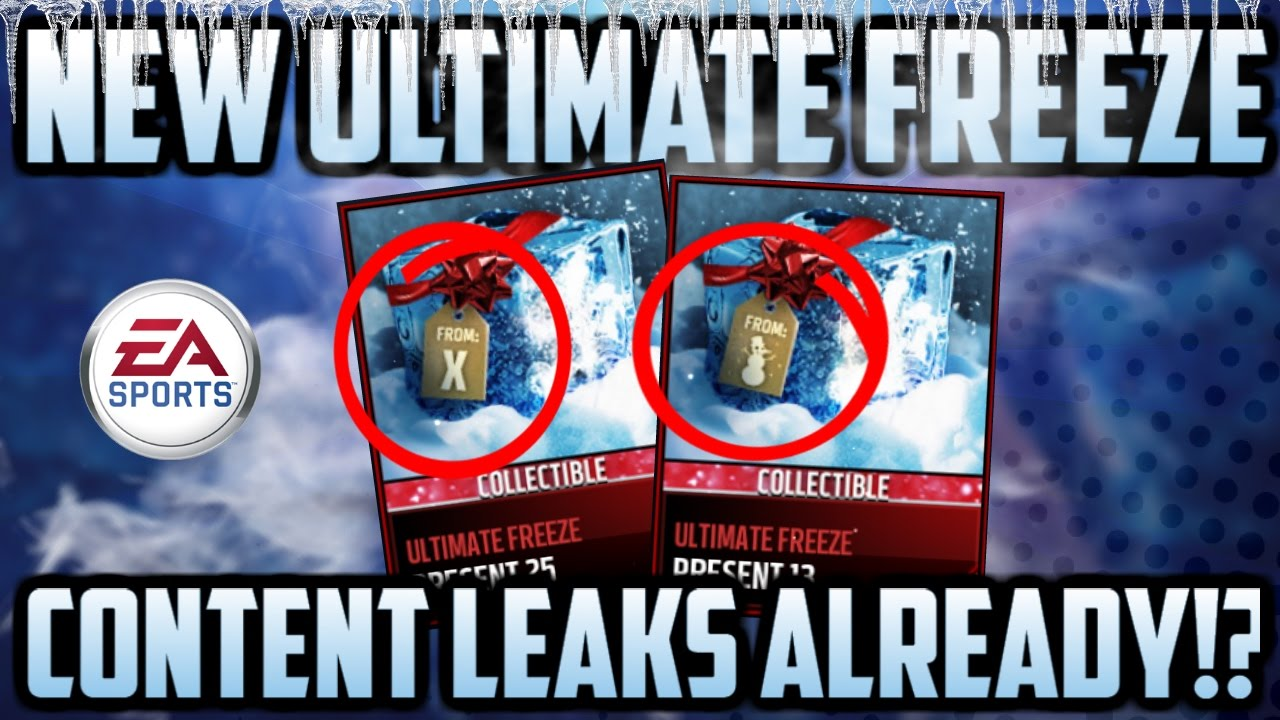 NEW ULTIMATE FREEZE LEAKS AND GIFT INFORMATION!! MADDEN MOBILE 17 ...